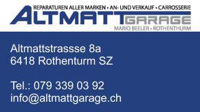Altmatt Garage in 6418 Rothenthurm